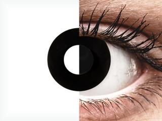 CRAZY LENS - Black Out - dioptria nélkül napi lencsék (2 db lencse)