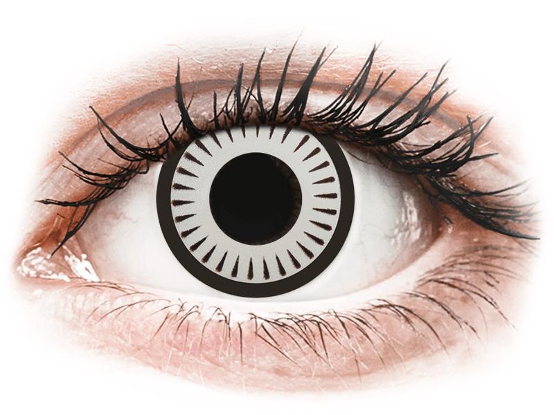 CRAZY LENS - Byakugan - dioptriával napi lencsék (2 db lencse) - Coloured contact lenses