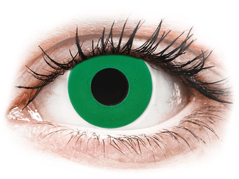 CRAZY LENS - Emerald Green - dioptria nélkül napi lencsék (2 db lencse) - Coloured contact lenses