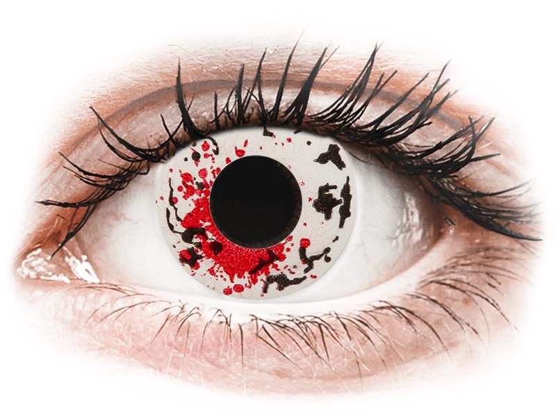 CRAZY LENS - Graffiti - dioptriával napi lencsék (2 db lencse) - Coloured contact lenses