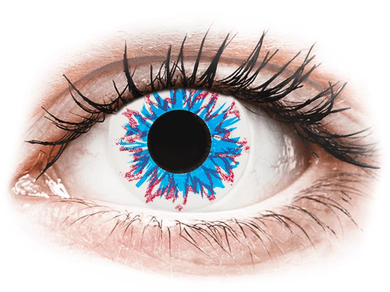 CRAZY LENS - Harlequin - dioptriával napi lencsék (2 db lencse) - Coloured contact lenses