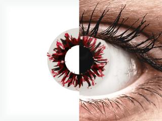 CRAZY LENS - Harlequin Black - dioptria nélkül napi lencsék (2 db lencse)