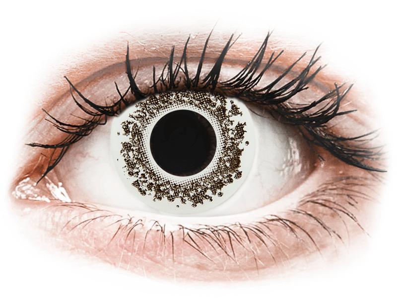 CRAZY LENS - Lord Snow - dioptriával napi lencsék (2 db lencse) - Coloured contact lenses