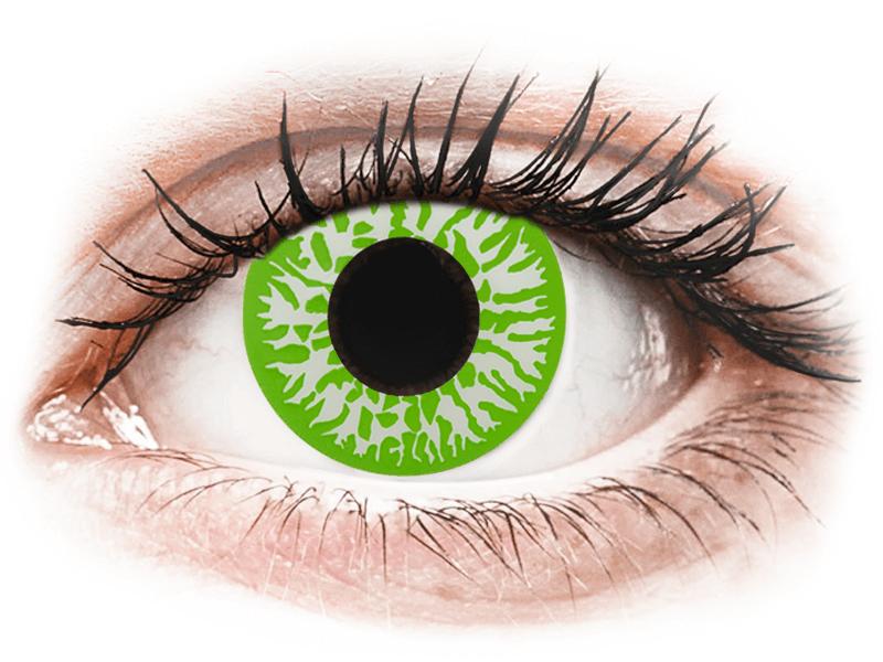 CRAZY LENS - Joker - dioptriával napi lencsék (2 db lencse) - Coloured contact lenses