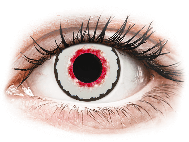 CRAZY LENS - Mad Clown - dioptriával napi lencsék (2 db lencse) - Coloured contact lenses