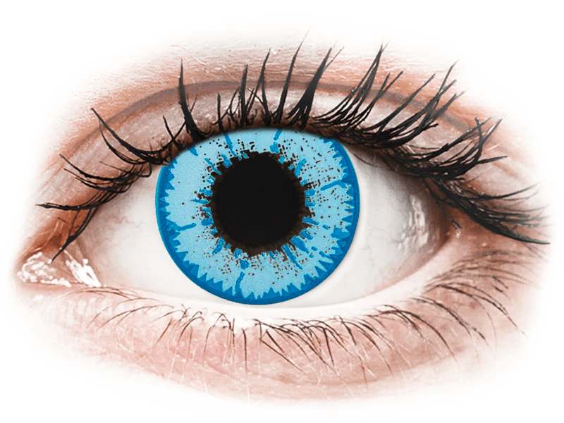 CRAZY LENS - Night King - dioptriával napi lencsék (2 db lencse) - Coloured contact lenses