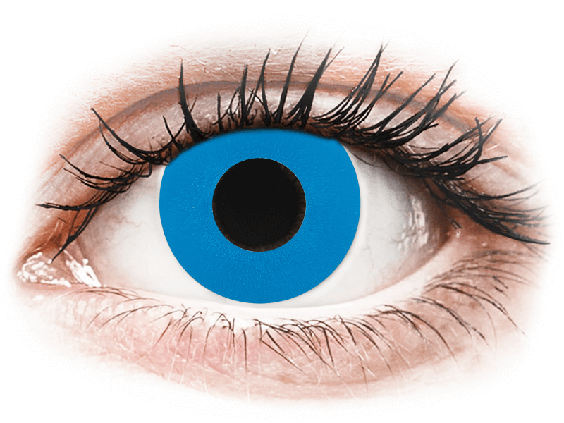 CRAZY LENS - Sky Blue - dioptria nélkül napi lencsék (2 db lencse) - Coloured contact lenses