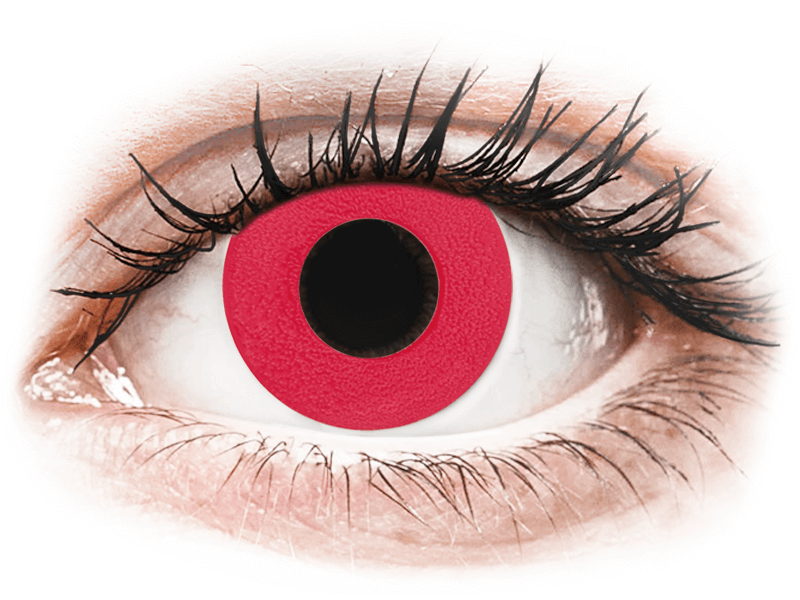 CRAZY LENS - Solid Red - dioptria nélkül napi lencsék (2 db lencse) - Coloured contact lenses