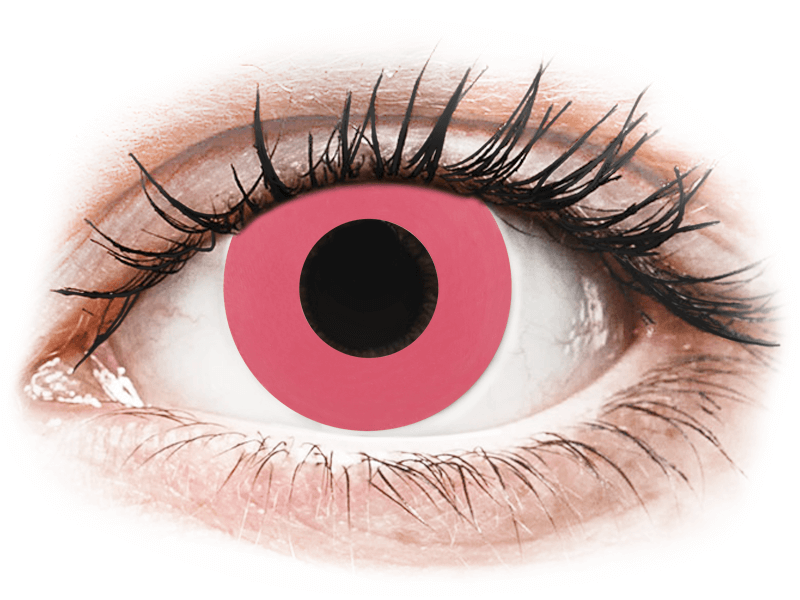 CRAZY LENS - Solid Rose - dioptriával napi lencsék (2 db lencse) - Coloured contact lenses