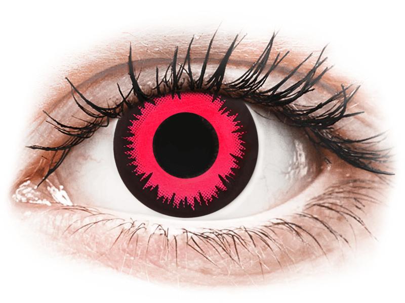 CRAZY LENS - Vampire Queen - dioptriával napi lencsék (2 db lencse) - Coloured contact lenses