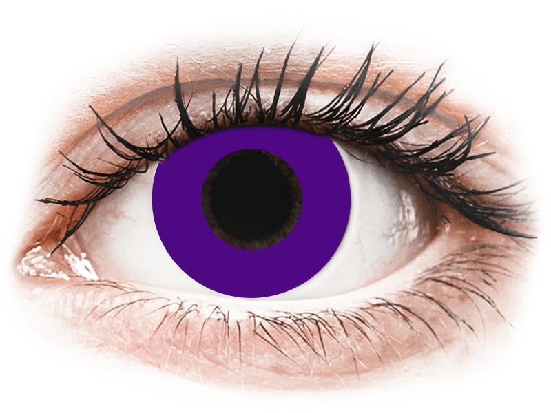CRAZY LENS - Solid Violet - dioptria nélkül napi lencsék (2 db lencse) - Coloured contact lenses