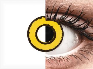 CRAZY LENS - Yellow Twilight - dioptriával napi lencsék (2 db lencse)