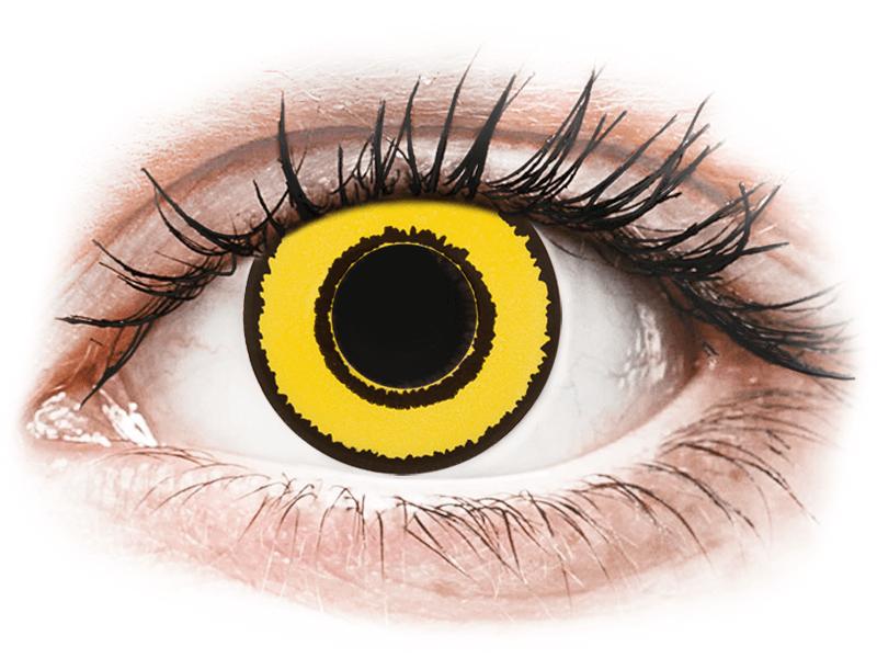 CRAZY LENS - Yellow Twilight - dioptriával napi lencsék (2 db lencse) - Coloured contact lenses