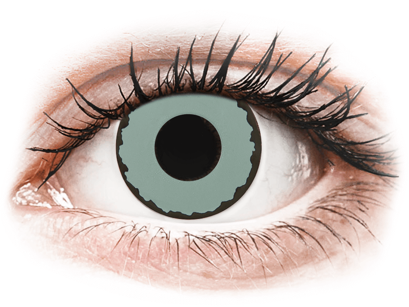 CRAZY LENS - Zombie Virus - dioptriával napi lencsék (2 db lencse) - Coloured contact lenses