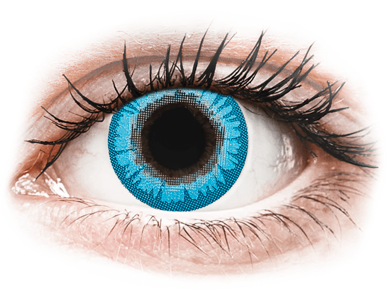 CRAZY LENS - White Walker - dioptria nélkül napi lencsék (2 db lencse) - Coloured contact lenses