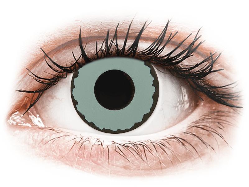 CRAZY LENS - Zombie Virus - dioptria nélkül napi lencsék (2 db lencse) - Coloured contact lenses