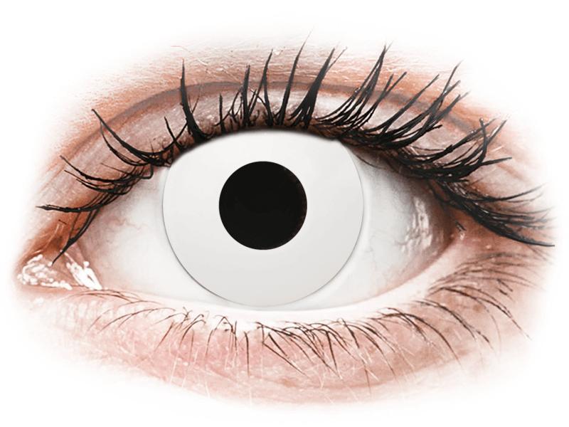 CRAZY LENS - WhiteOut - dioptriával napi lencsék (2 db lencse) - Coloured contact lenses