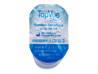 TopVue Daily (90 db lencse) - Buborékcsomagolás előnézete