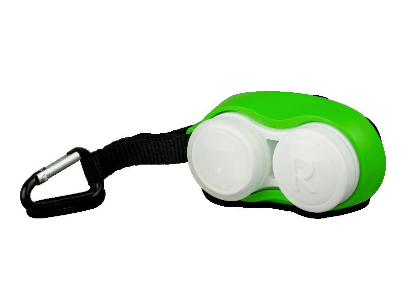 Zöld Clip-On lencsetartó karabinerrel