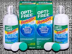 OPTI-FREE RepleniSH kontaktlencse folyadék 2x300ml  - Economy duo pack- solution