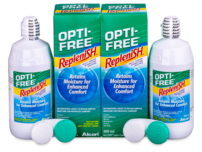 OPTI-FREE RepleniSH kontaktlencse folyadék 2 x 300 ml  - Economy duo pack- solution