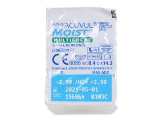 1 Day Acuvue Moist Multifocal (30 db lencse) - Buborékcsomagolás előnézete