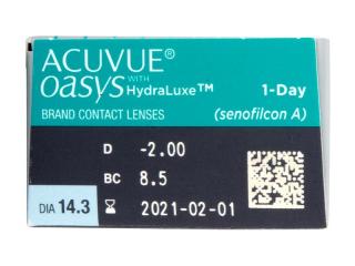 Acuvue Oasys 1-Day (30 db lencse) - Paraméterek előnézete