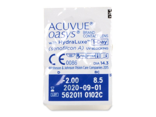 Acuvue Oasys 1-Day (90 db lencse) - Buborékcsomagolás előnézete