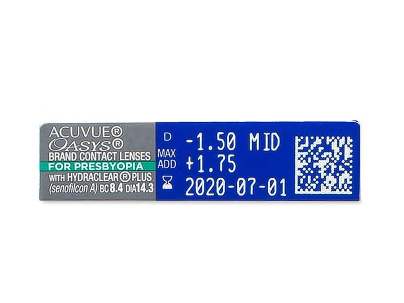 Acuvue Oasys for Presbyopia (6 db lencse) - Paraméterek előnézete