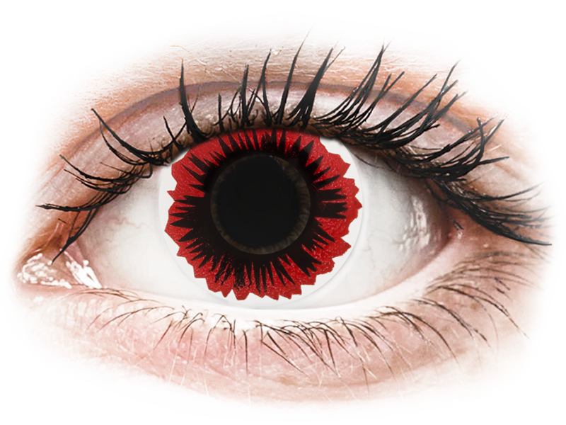 ColourVUE Crazy Lens - Blaze - dioptria nélkül (2 db lencse)