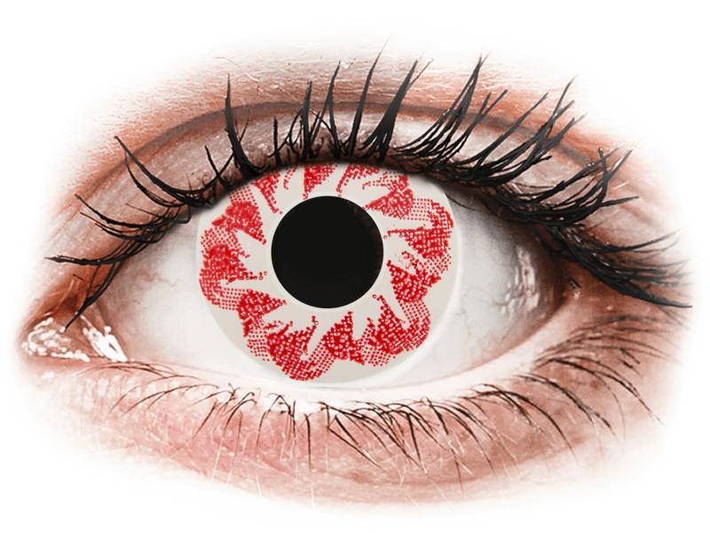 CRAZY LENS - Atom Bomb - dioptria nélkül napi lencsék (2 db lencse) - Coloured contact lenses