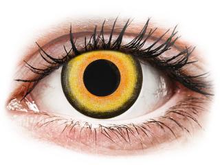 CRAZY LENS - Midnight Sun - dioptria nélkül napi lencsék (2 db lencse) - Coloured contact lenses