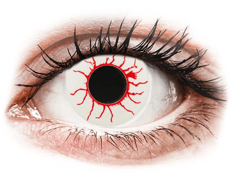 CRAZY LENS - Red Viper - dioptria nélkül napi lencsék (2 db lencse) - Coloured contact lenses