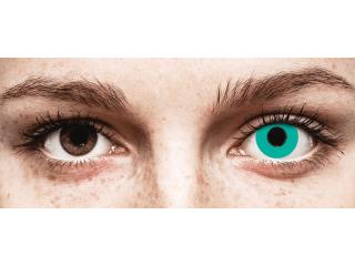 CRAZY LENS - Solid Turquoise - dioptria nélkül napi lencsék (2 db lencse)