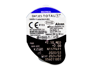Dailies TOTAL1 Multifocal (30 lencse) - Buborékcsomagolás előnézete