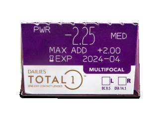 Dailies TOTAL1 Multifocal (30 lencse) - Paraméterek előnézete