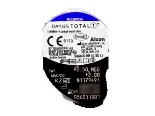 Dailies TOTAL1 Multifocal (90 lencse) - Buborékcsomagolás előnézete