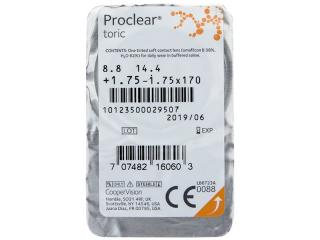 Proclear Toric (3 db lencse) - Buborékcsomagolás előnézete