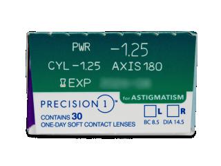 Precision1 for Astigmatism (30 db lencse) - Paraméterek előnézete