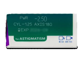 Precision1 for Astigmatism (90 db lencse) - Paraméterek előnézete