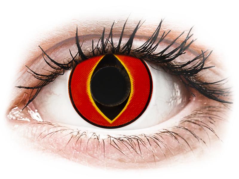 ColourVUE Crazy Lens - Mad Frog - dioptria nélkül (2 db lencse) - Coloured contact lenses