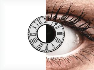CRAZY LENS - Clock - dioptria nélkül napi lencsék (2 db lencse)