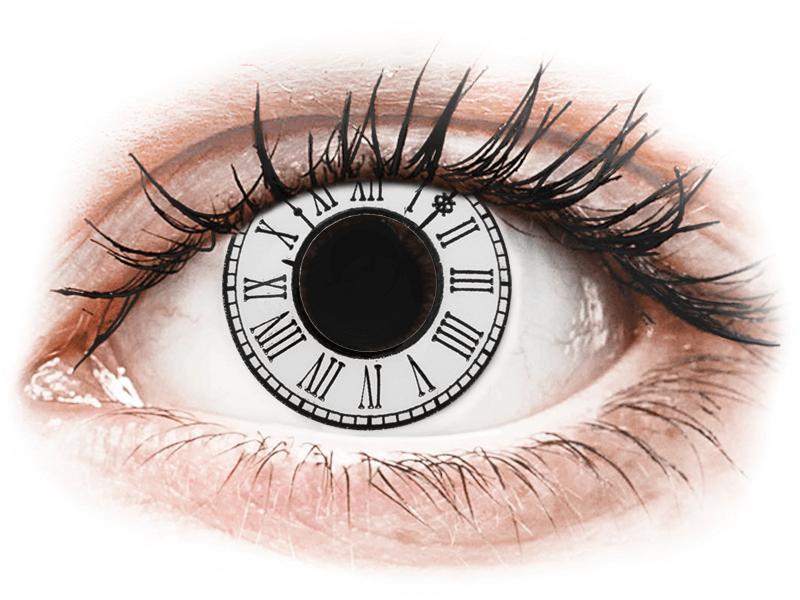 CRAZY LENS - Clock - dioptria nélkül napi lencsék (2 db lencse) - Coloured contact lenses