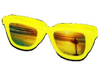 OptiShades lencsetartó  - sárga