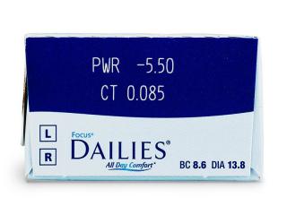 Focus Dailies All Day Comfort (30db lencse) - Paraméterek előnézete
