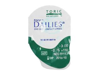 Focus Dailies Toric (30db lencse) - Buborékcsomagolás előnézete