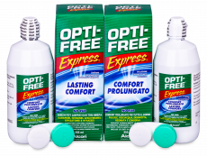 OPTI-FREE Express kontaktlencse folyadék 2 x 355 ml  - Economy duo pack- solution