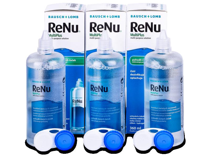 ReNu MultiPlus kontaktlencse folyadék 3x360ml  - Gazdaságos hármas kiszerelés - ápolószer