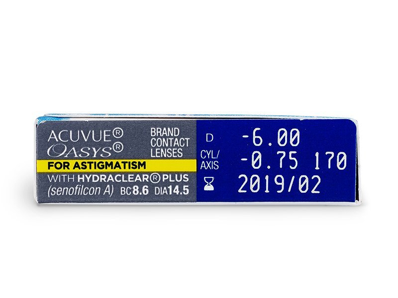 Acuvue Oasys for Astigmatism (6db lencse) - Paraméterek előnézete