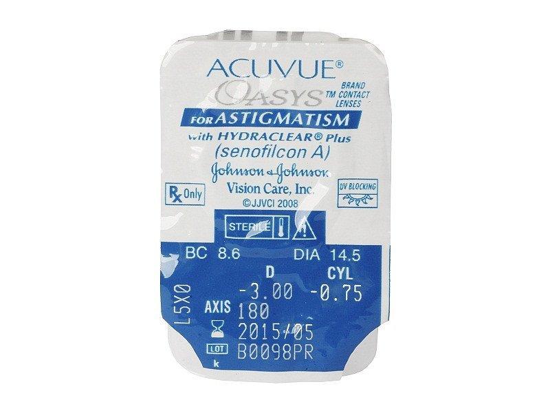 Acuvue Oasys for Astigmatism (6db lencse) - Buborékcsomagolás előnézete